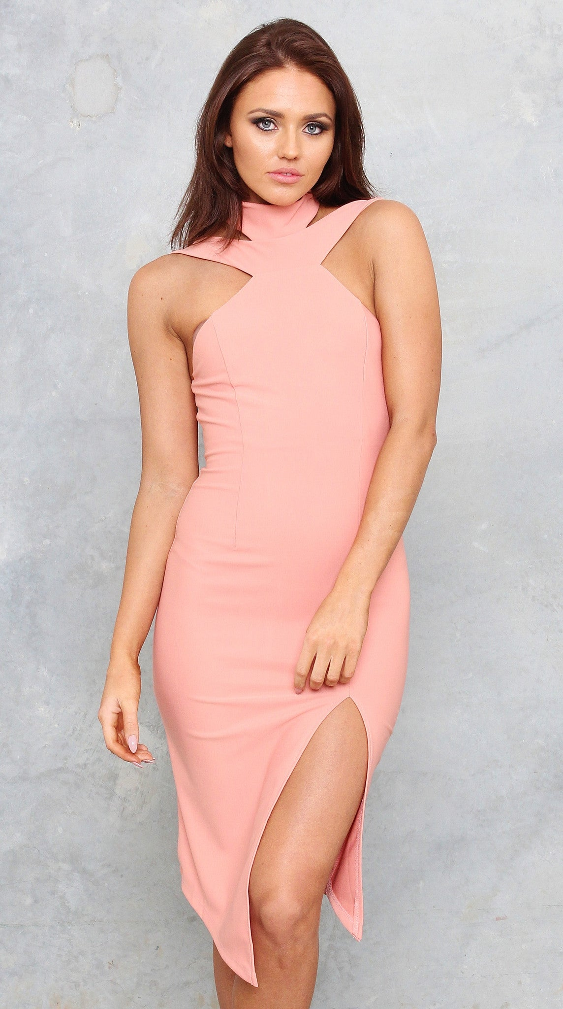 CAMILLA DRESS - PEACH