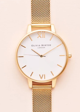 BIG DIAL ROSE GOLD MESH - RESTOCKED