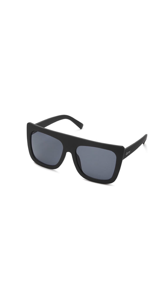 QUAY  SUNGLASSES- CAFE RACER - BLK/SMOKE