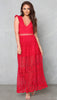 Im Yours Lace Maxi Dress - Red