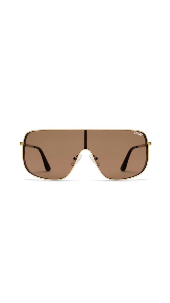 Quay - Unbothered - Sunglasses - Gold/Brown
