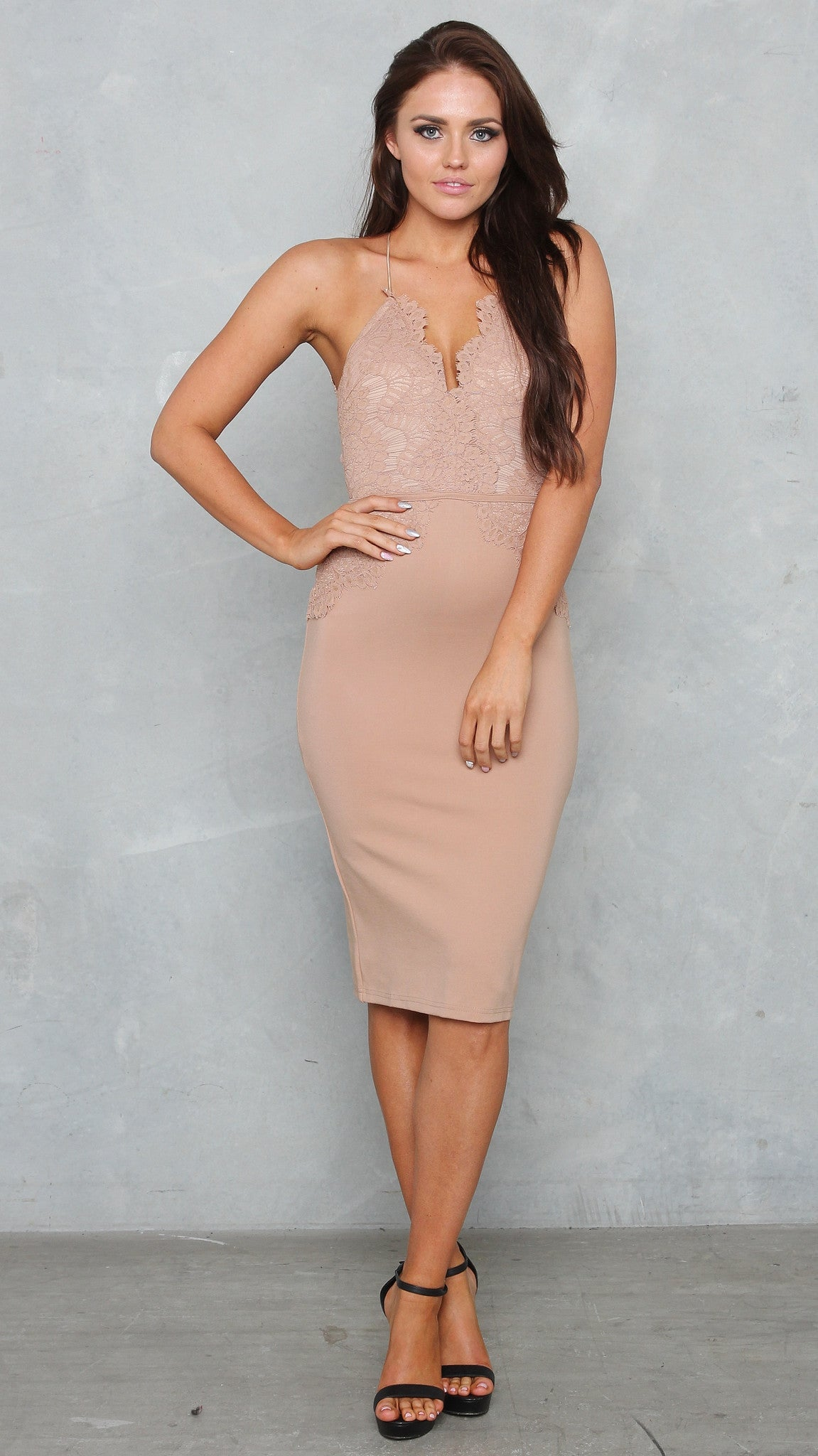 KLUM DRESS - NUDE - restocked