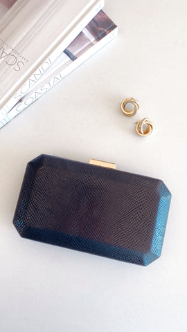 London Clutch - Black Lizard
