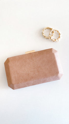 London Clutch - Blush Lizard