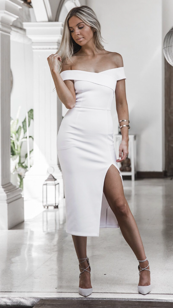 Lotus Dress - White