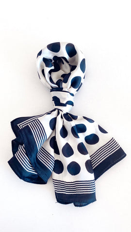 Jada Head Scarf - Black Polka