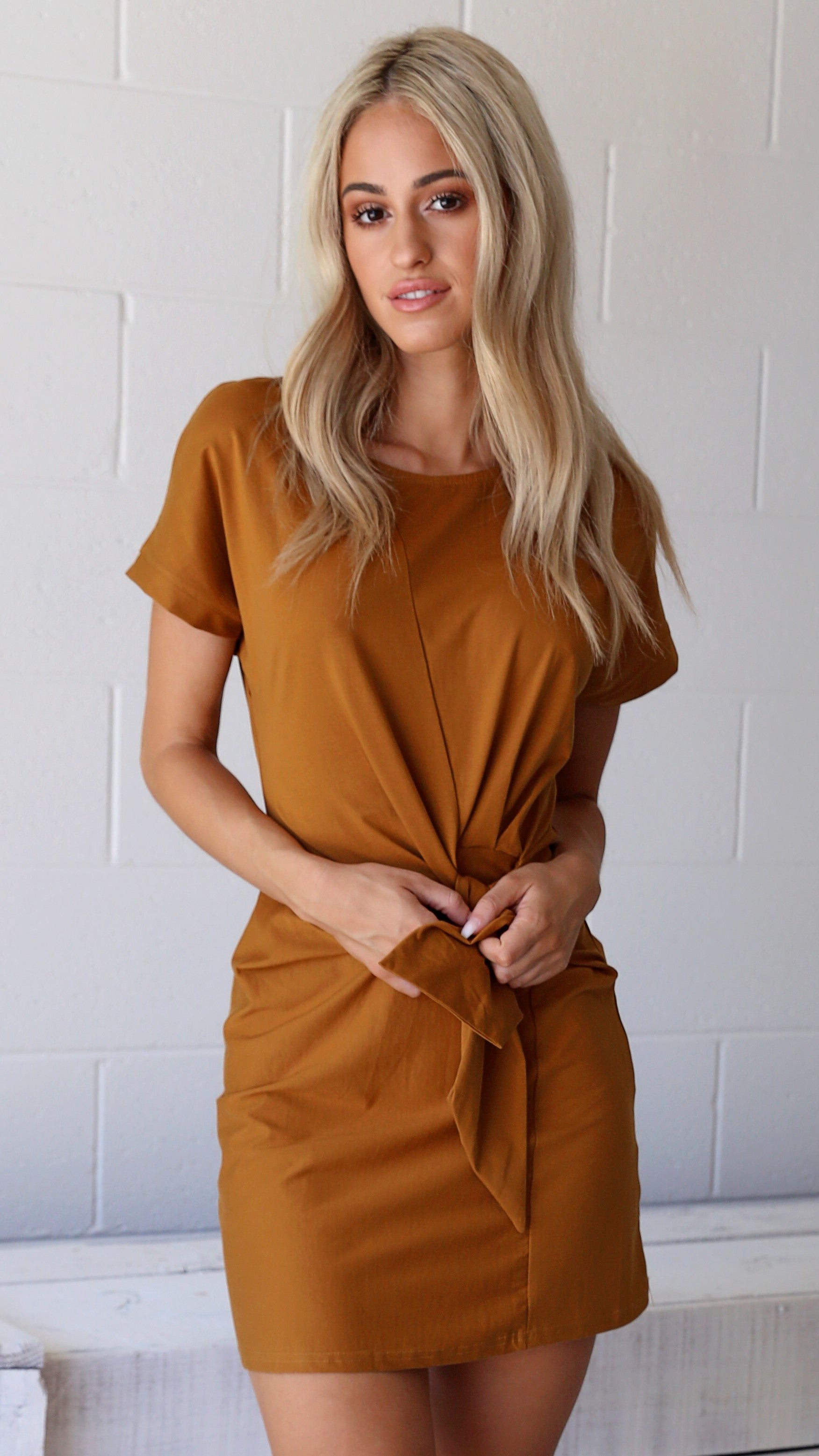 Copper Dress with Belt