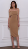 Reckless Midi Dress - Nude