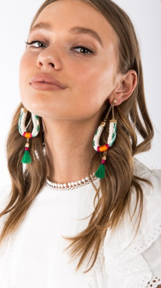 Rope & Tassel Drop Earring