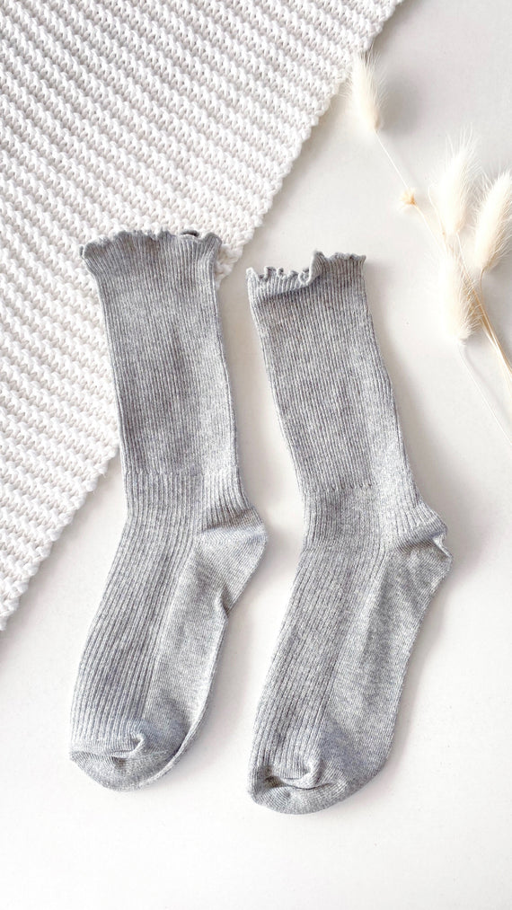 Effie Long Socks - Grey