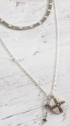 Ziggy Pendant Necklace - Silver