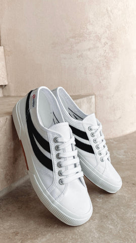 Superga 2953 CotuSuede - White/Black