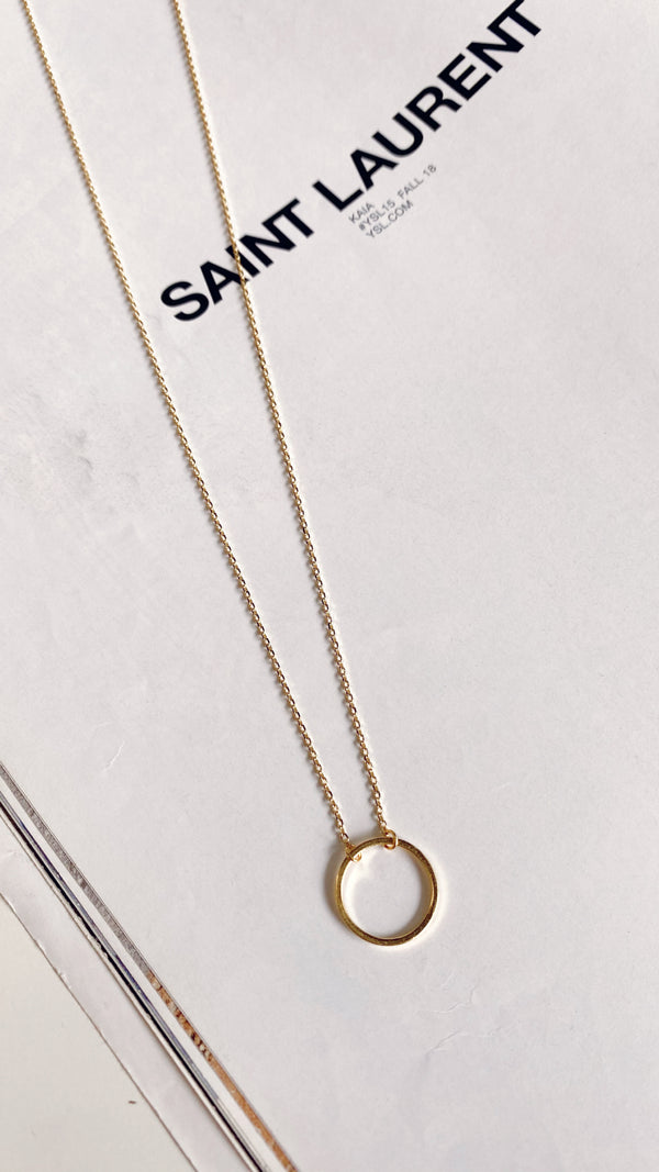 Hollow Circle Necklace - Gold