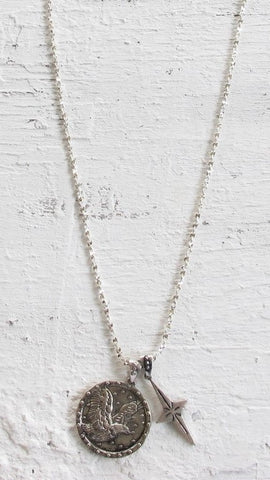 Eagle Pendant Necklace - Silver