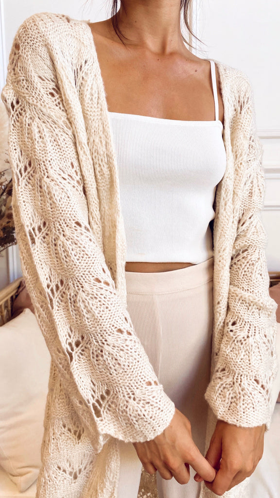 Fluer Cardigan - Cream