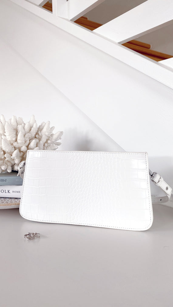 Porter Shoulder Bag - White Croc