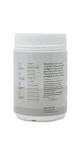 Kissed Earth Brilliance Collagen Powder - Pineapple Coconut