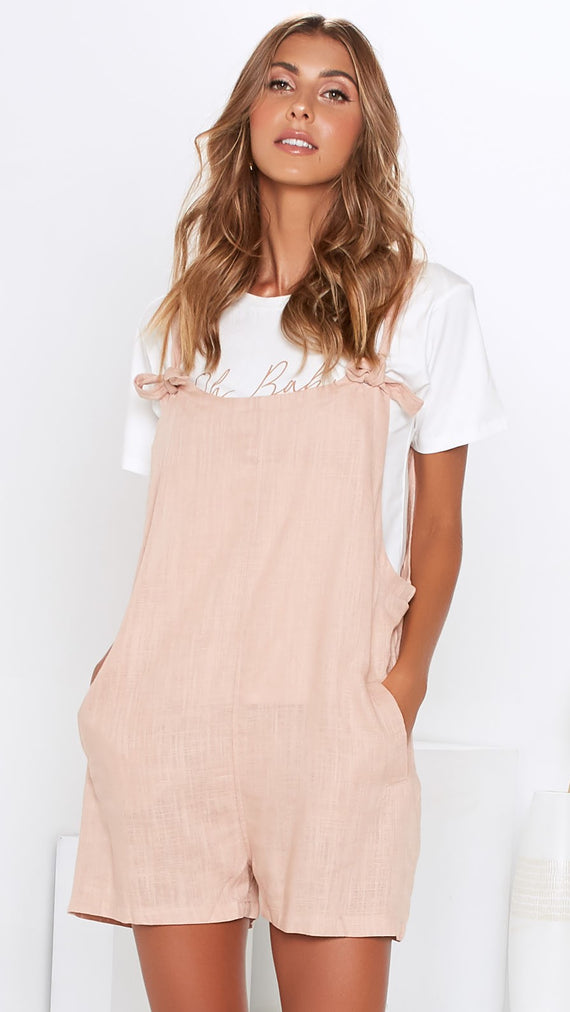 Kippy Overalls - Dusty Rose