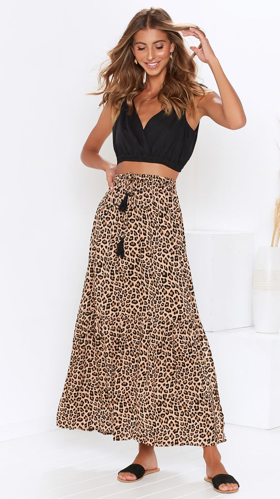 Sitting Pretty Skirt - Leopard