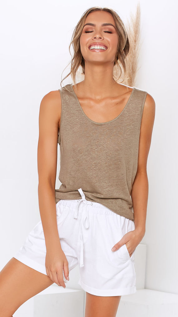 Zennie Top - Khaki