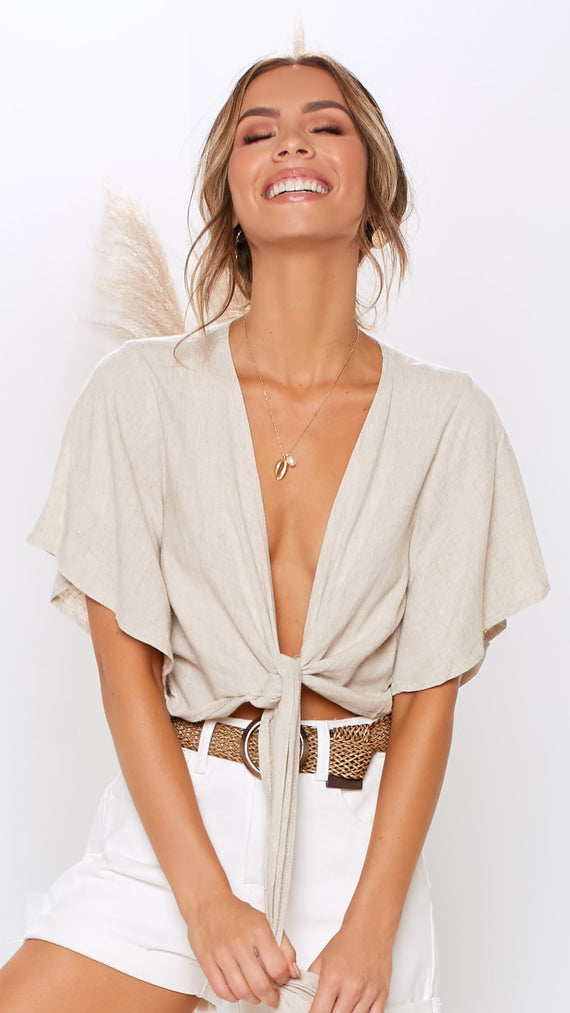 Lonely Hearts Top - Natural