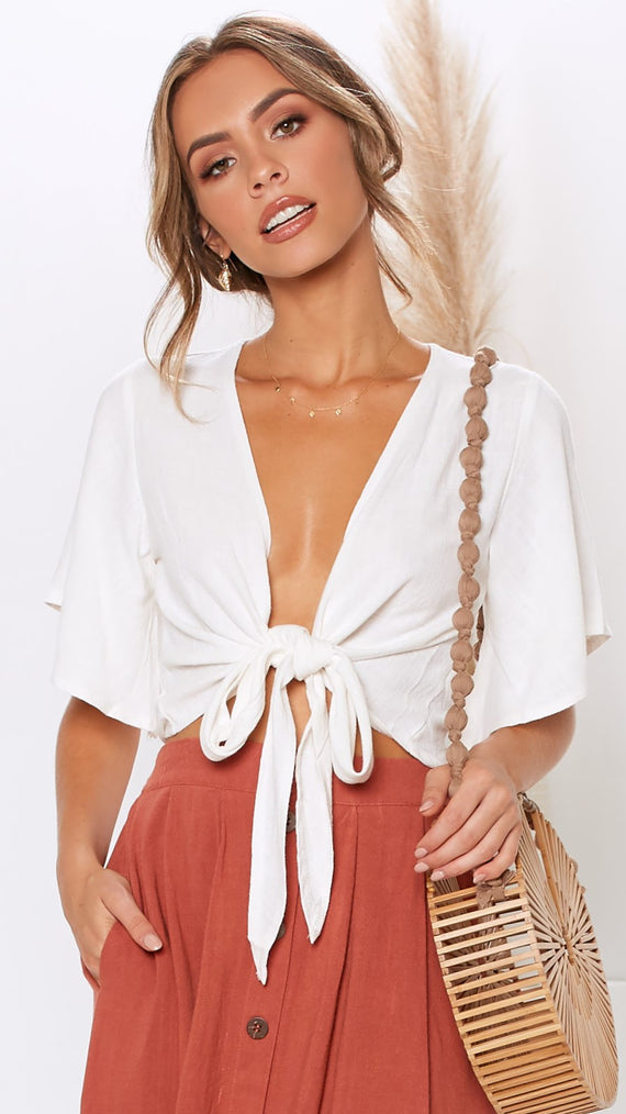 Lonely Hearts Top - White