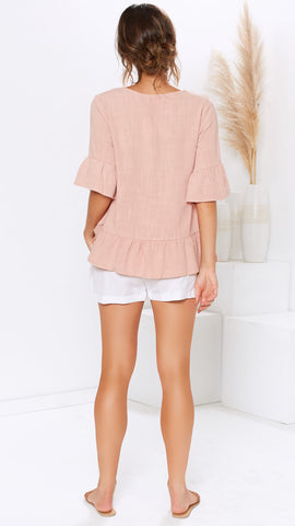 All Embraced Top - Blush