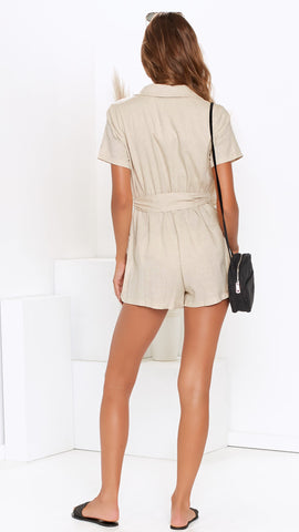 White Dunes Playsuit