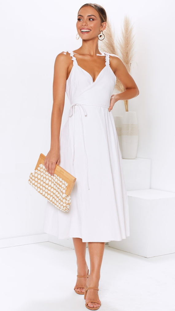 Amelie Wrap Dress - White