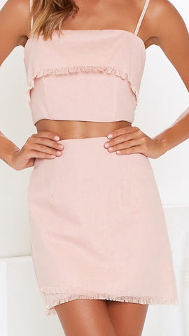Bentley Skirt - Blush