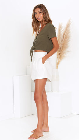 Greer Shorts - White