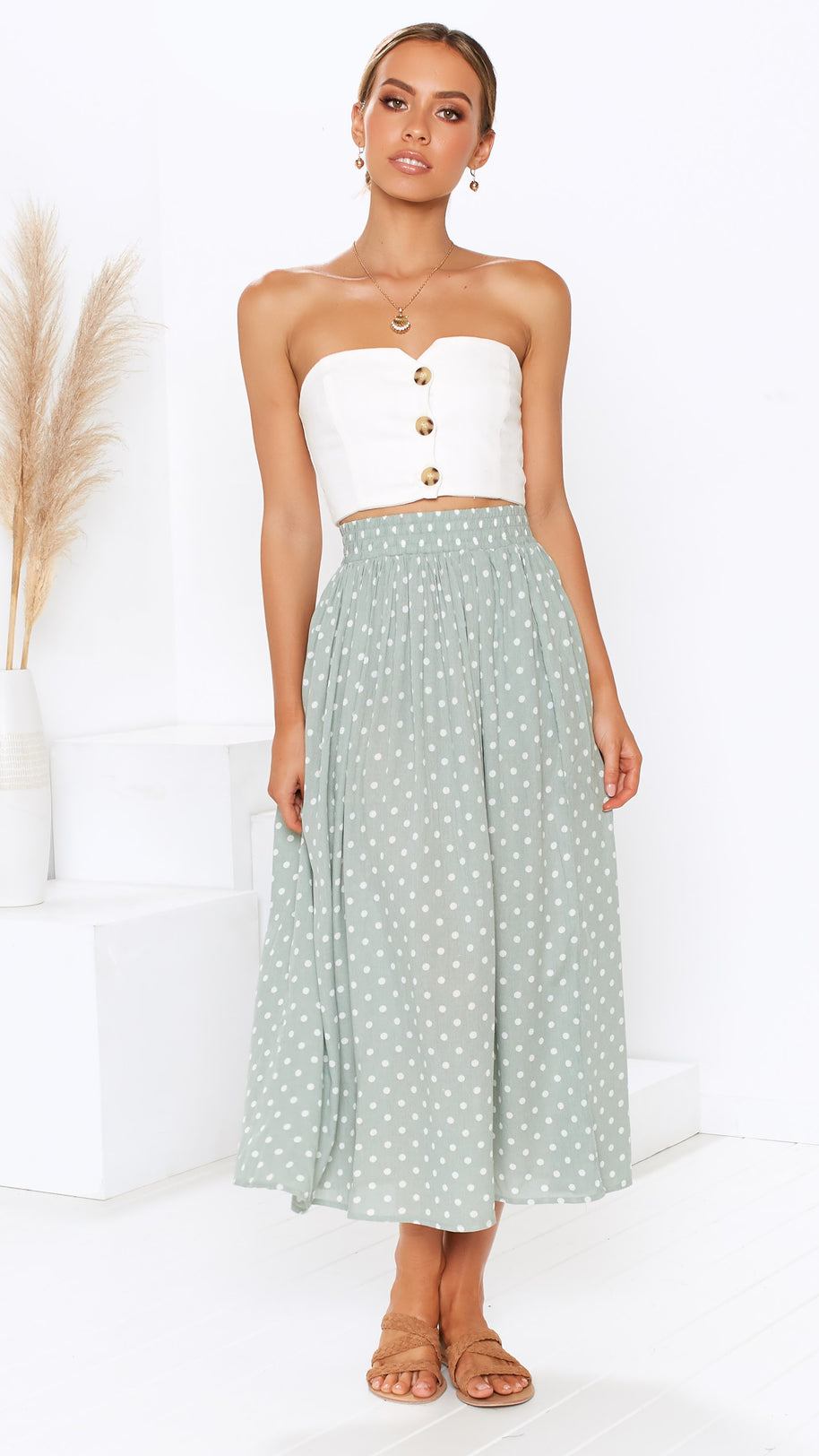 Casey Midi Skirt - Mint