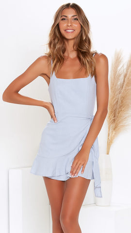 Kasha Dress - Sky Blue