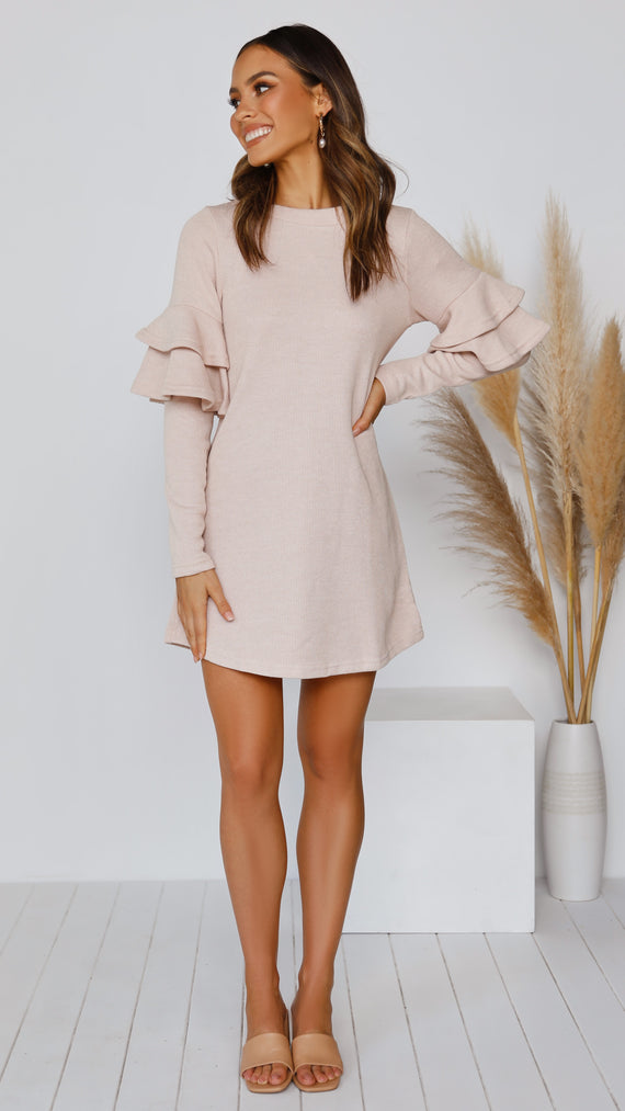 Still in Love Knit Dress - Beige