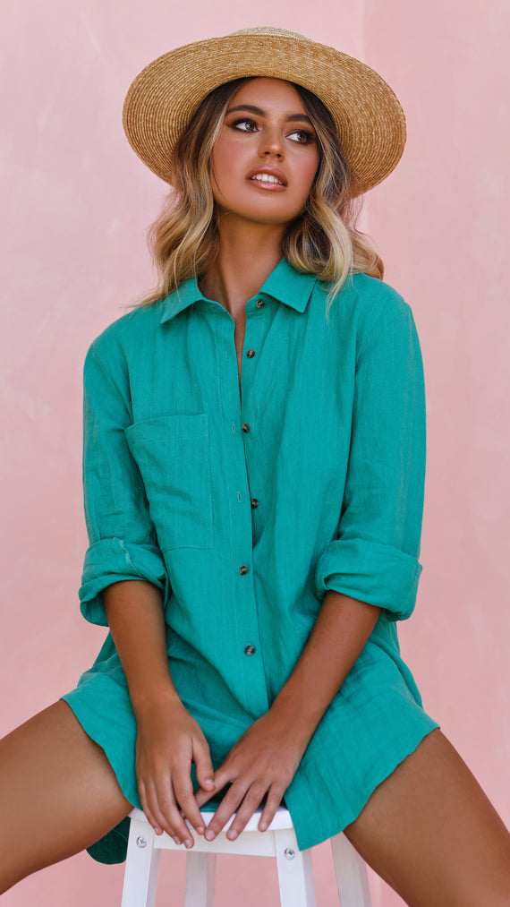 Leopold Oversized Shirt - Green