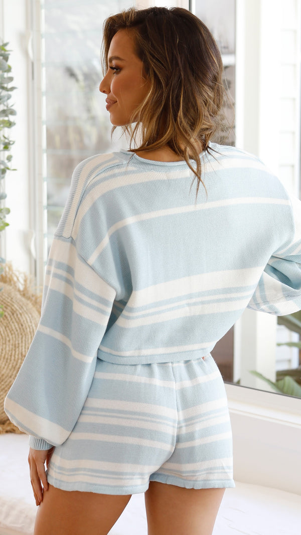 Clarissa Set - Blue/White Stripe