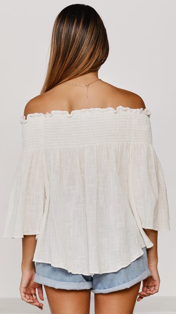 Renata Off Shoulder Top - White