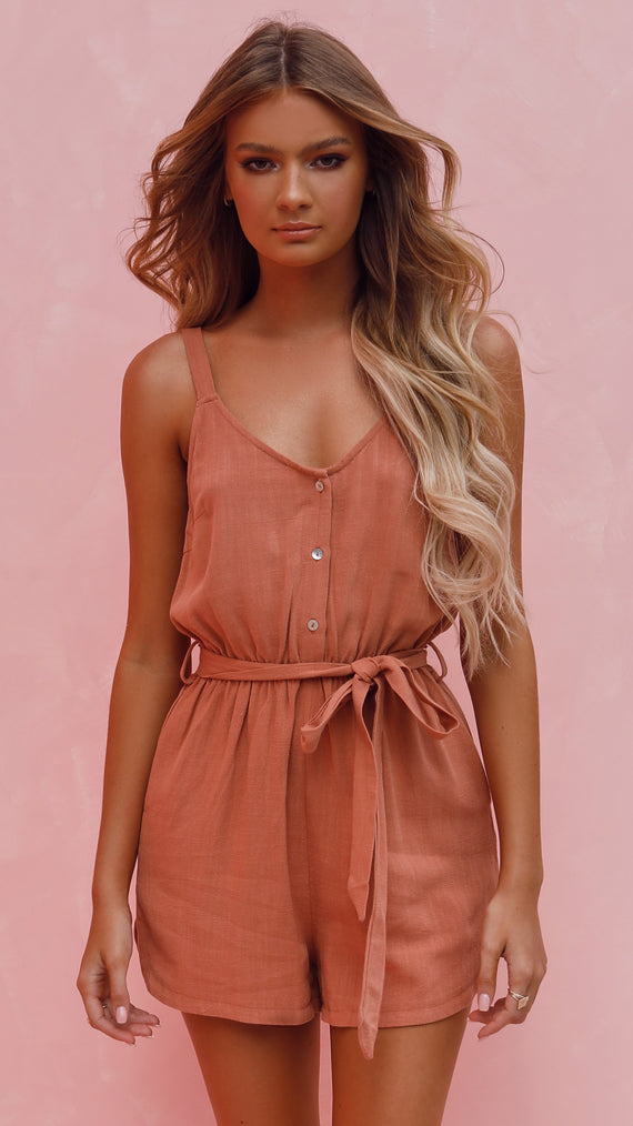 Casey Playsuit - Rust