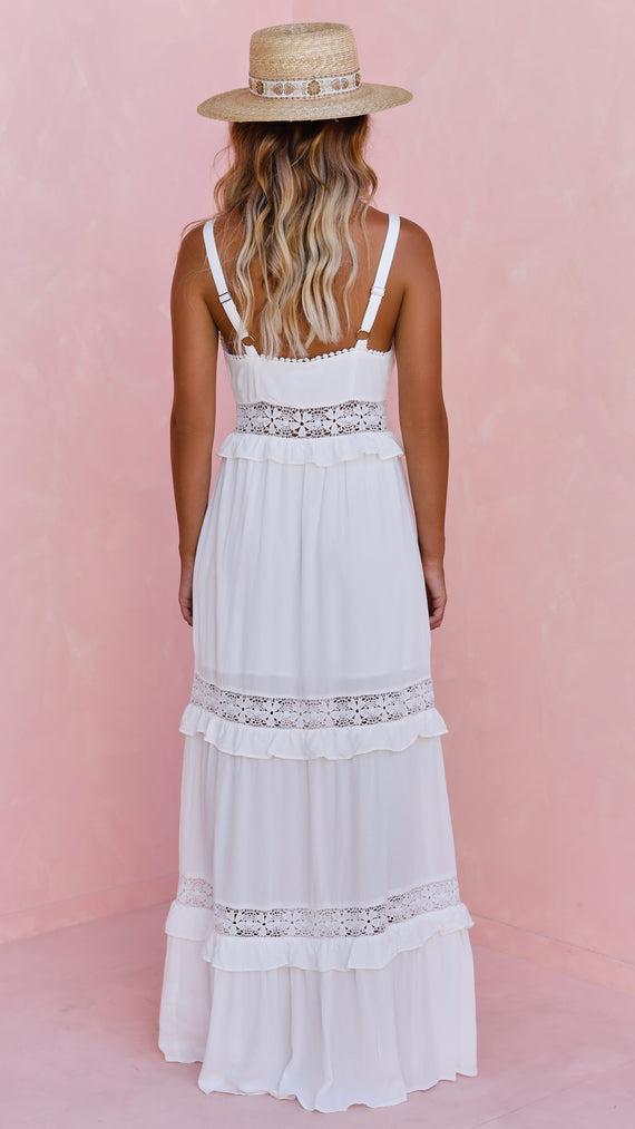 Virgin Islands Maxi Dress - White
