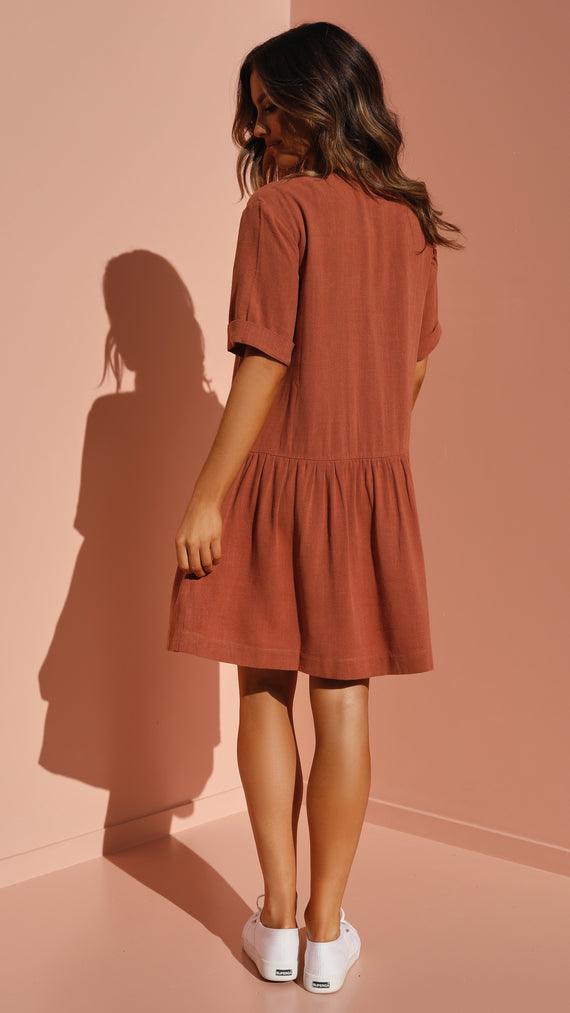 Bailey Dress - Tan