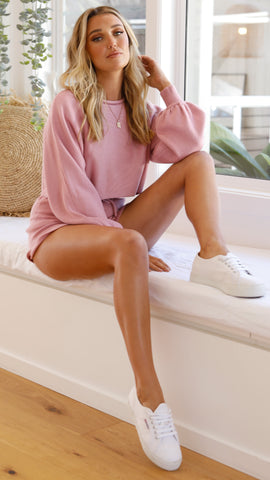 Azure Knit Shorts - Pink