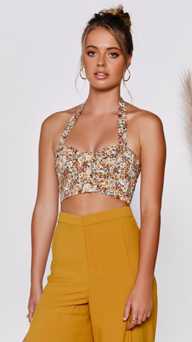 Marguerite Top - Orange Floral