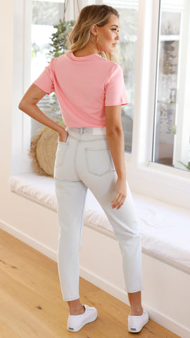 By Dylan Maci Mom Jeans - Light Blue