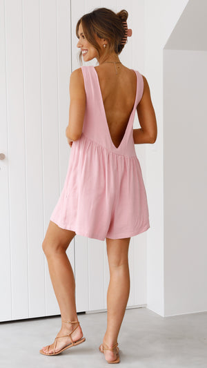 Cabana Playsuit - Blush