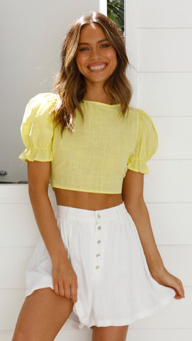 August Top - Yellow