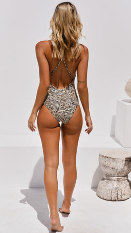 Sarabi One Piece Swimsuit - Zebra Print