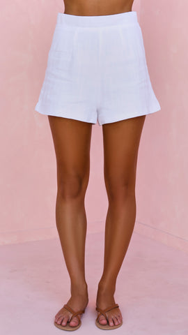 Bond Linen Shorts - White
