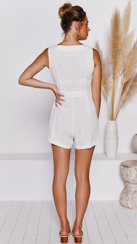 Swanson Playsuit - White