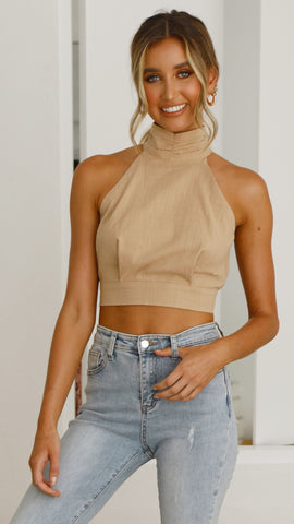 Solace Top - Camel