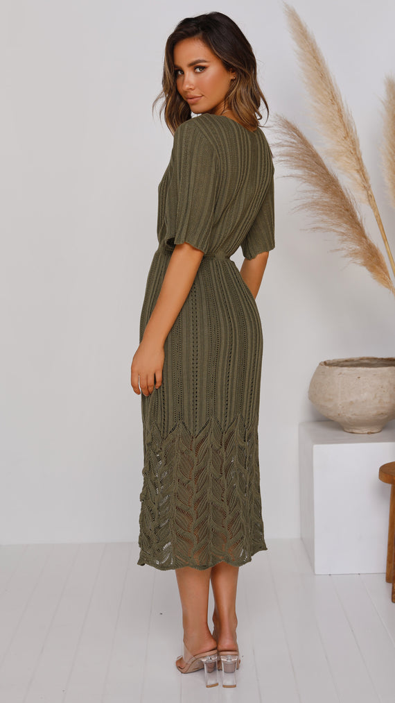 Inner Bloom Dress - Khaki